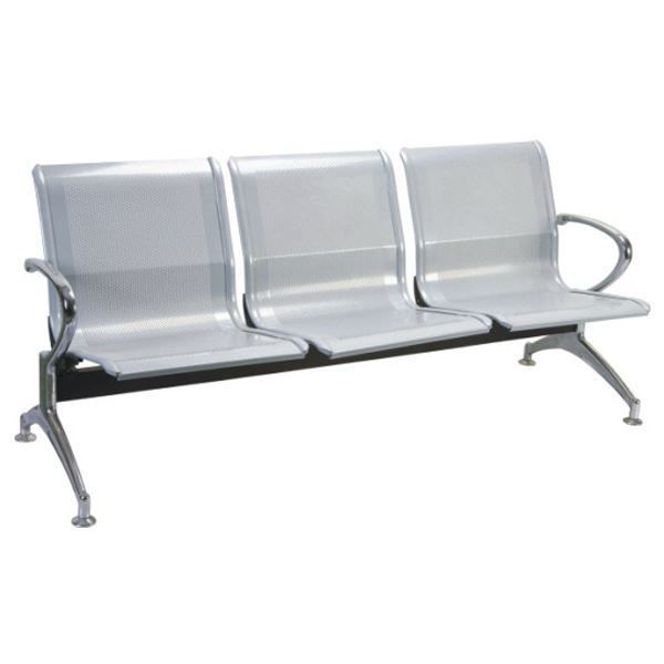 Image 3-Seater Reception Chair - Chrome