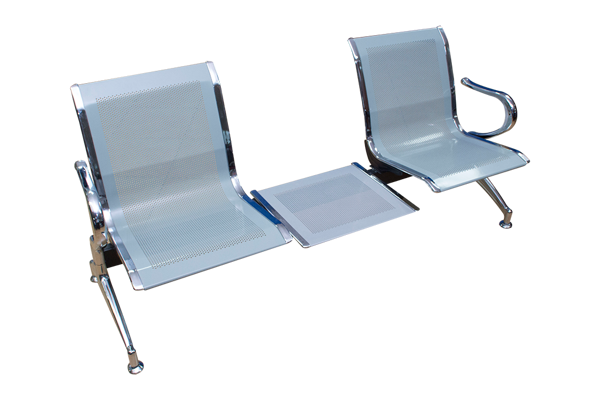 Image 2-Seater Reception Chair  w/Table - Chrome