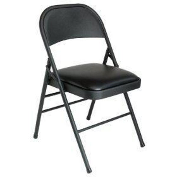 Image Metal Folding Chair Padded - Black