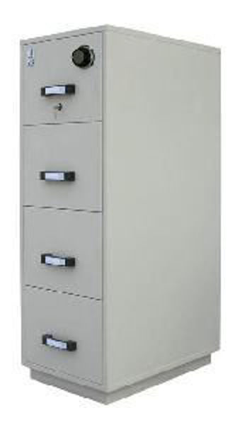 Sentinel 4-D F/Proof Cabinet w/Combo Lock Gy. #FRD-11-4014