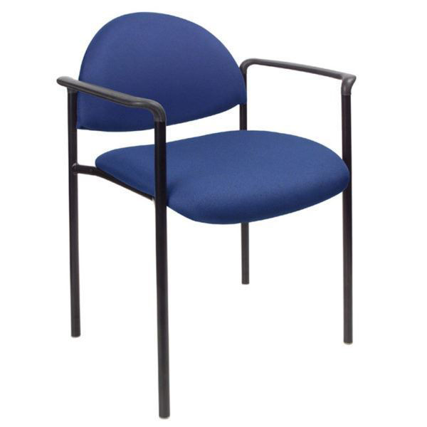 Boss Stackable Side Chair w/Arms Blue