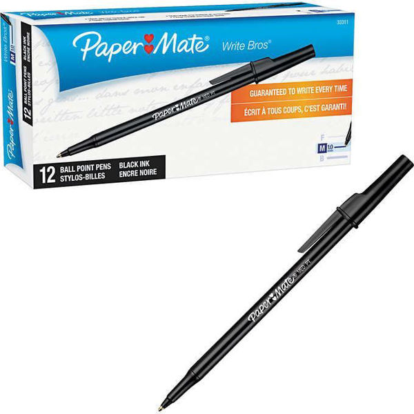Paper Mate Pen Black Med #46214