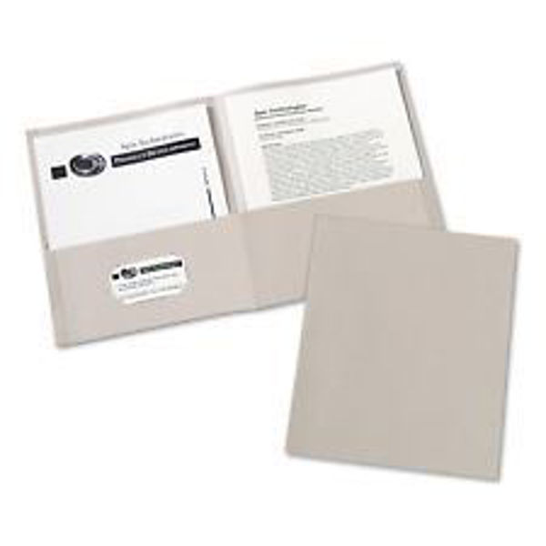 Avery Double Pocket Portfolio - Grey #47990