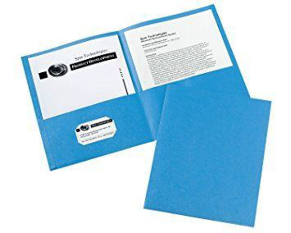 Avery Double Pocket Portfolio - Lt. Blue #47986