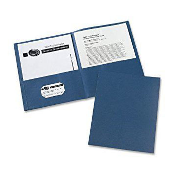 Avery Double Pocket Portfolio - Dk. Blue #47985