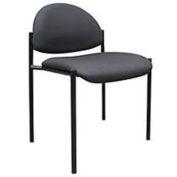 Boss Stackable Chair w/o Arms - Bk