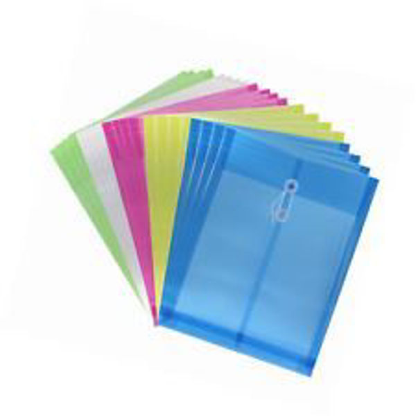 CF A4 Poly Envelope w/String Asstd. Colours