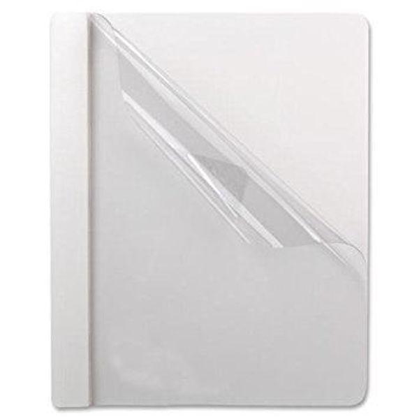 Oxford Plastic Front Folder - White #58804