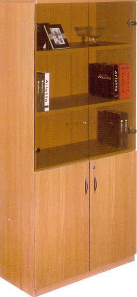 Torch 5-S Cabinet w/Glass & Solid Doors - BE