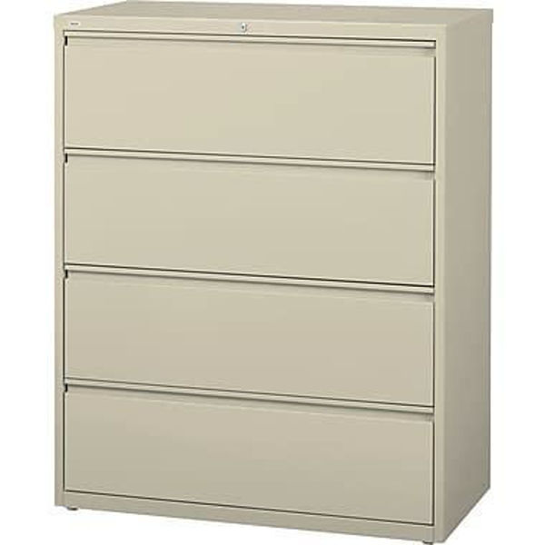 Image 4-Drawer Lateral Cabinet - Putty
