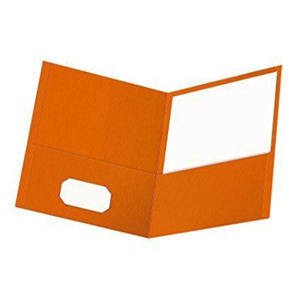 Oxford Double Pocket Portfolio - Orange #50756