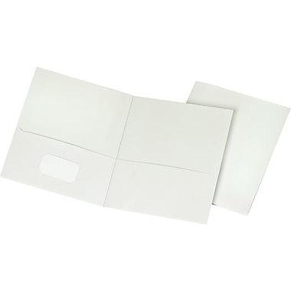 Oxford Double Pocket Portfolio - White #50760