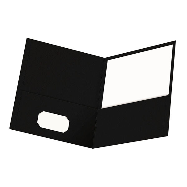 Oxford Double Pocket Portfolio - Black