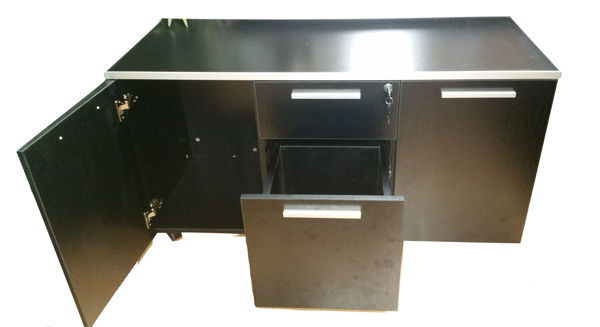 Premier Side Cabinet 1200Wx500Dx630H - Black