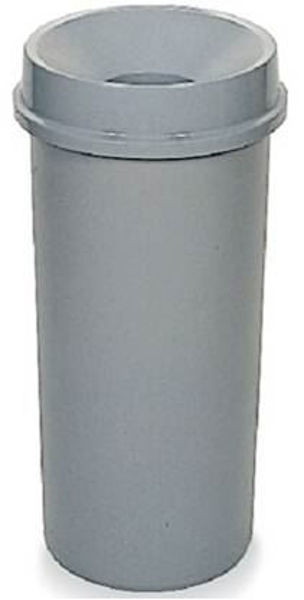 R/Maid Round Trash Bin w/Funnel Top Grey 22gal #3546