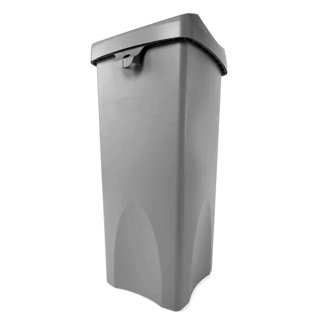 R/Maid Square Trash Bin w/Swing Led Grey 23gal #792020