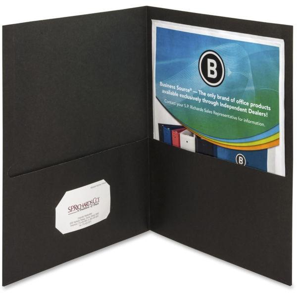 B/Source Double Pocket Portfolio - Black #78490