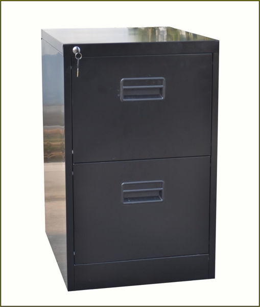 Bizoe 2-Drawer Filing Cabinet (Black)