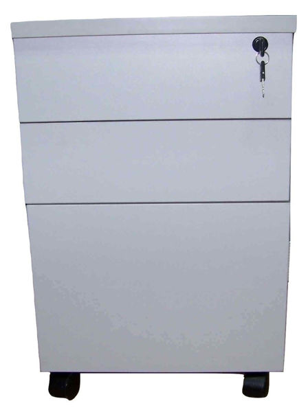 Image 3-Drawer Pedestal (Grey)