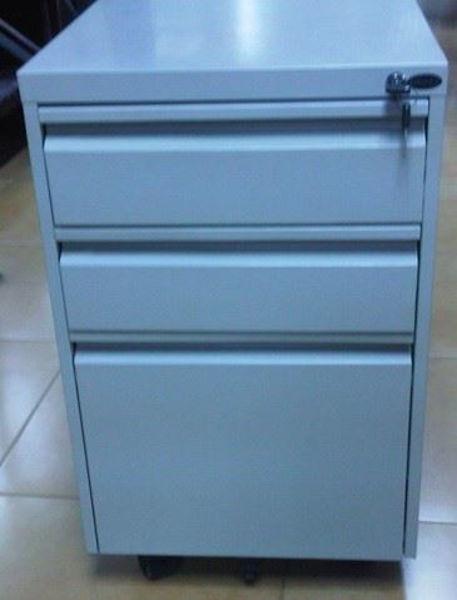 Image Metal 3-Drawer Pedestal (Grey)