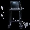 Image Bar Stool w/Chrome Frame - Black
