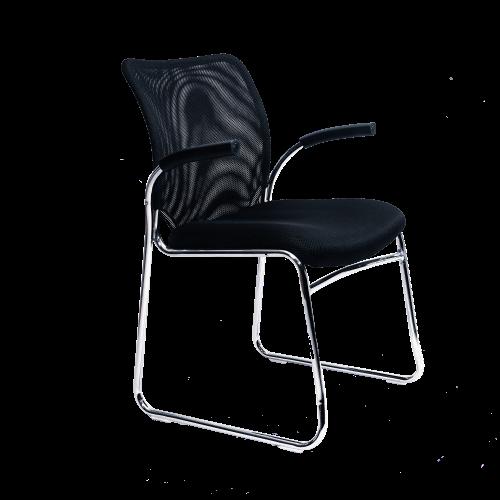 Image Half Arm Side Chair - Black