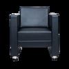 Image 1-Seater PU Sofa - Black