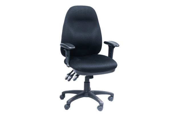 Image 3 Lever Heavy Duty Chair w/Arms - Black
