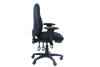 Image 3 Lever Heavy Duty Medium Back Chair w/Arms - Black