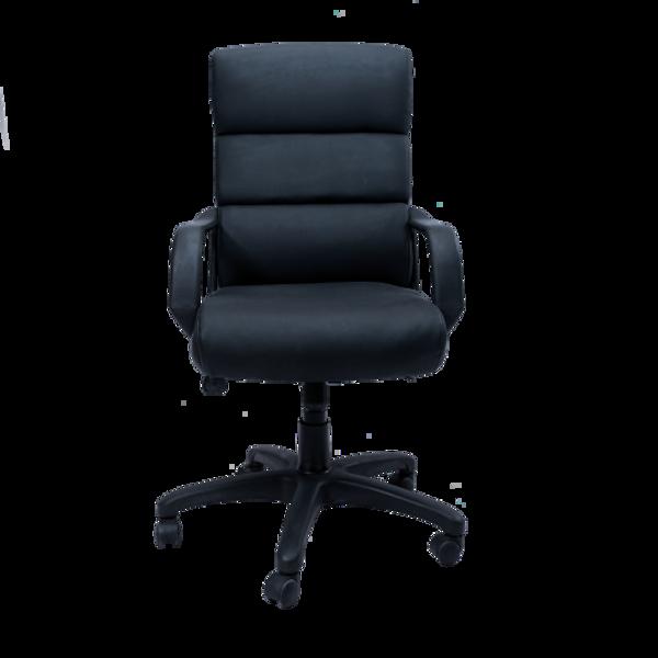 Image High Back Exec Vinyl Chair - Black