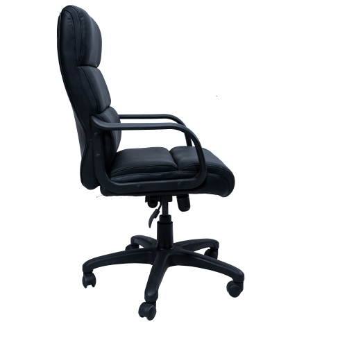 Picture of AA-5332BK Image High Back Exec Vinyl Chair - Black
