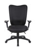 Boss Multi-Function Hi Back Chair w/Arms - Bk