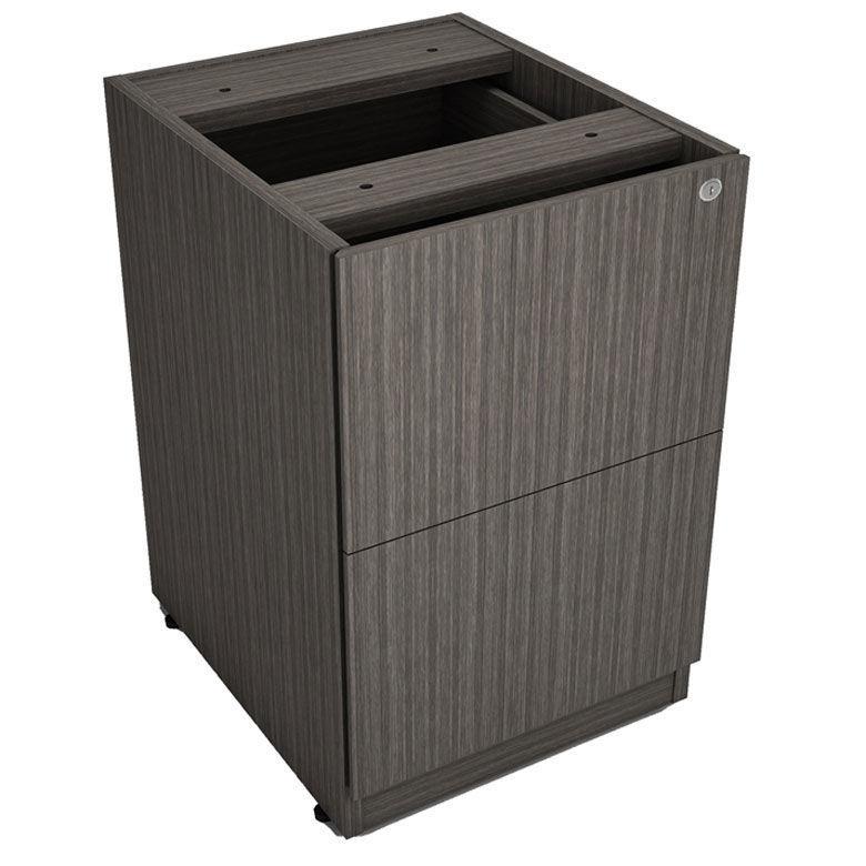 Boss 2-Drawer Pedestal - Driftwood