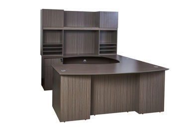 Picture of N6-003DW  Boss 71 x 23.5 Credenza w/3-Drw Pedestal - Driftwood