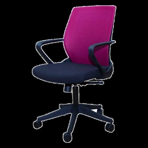 Anji Medium Back Mesh Chair w/Arms - Wine #A-3