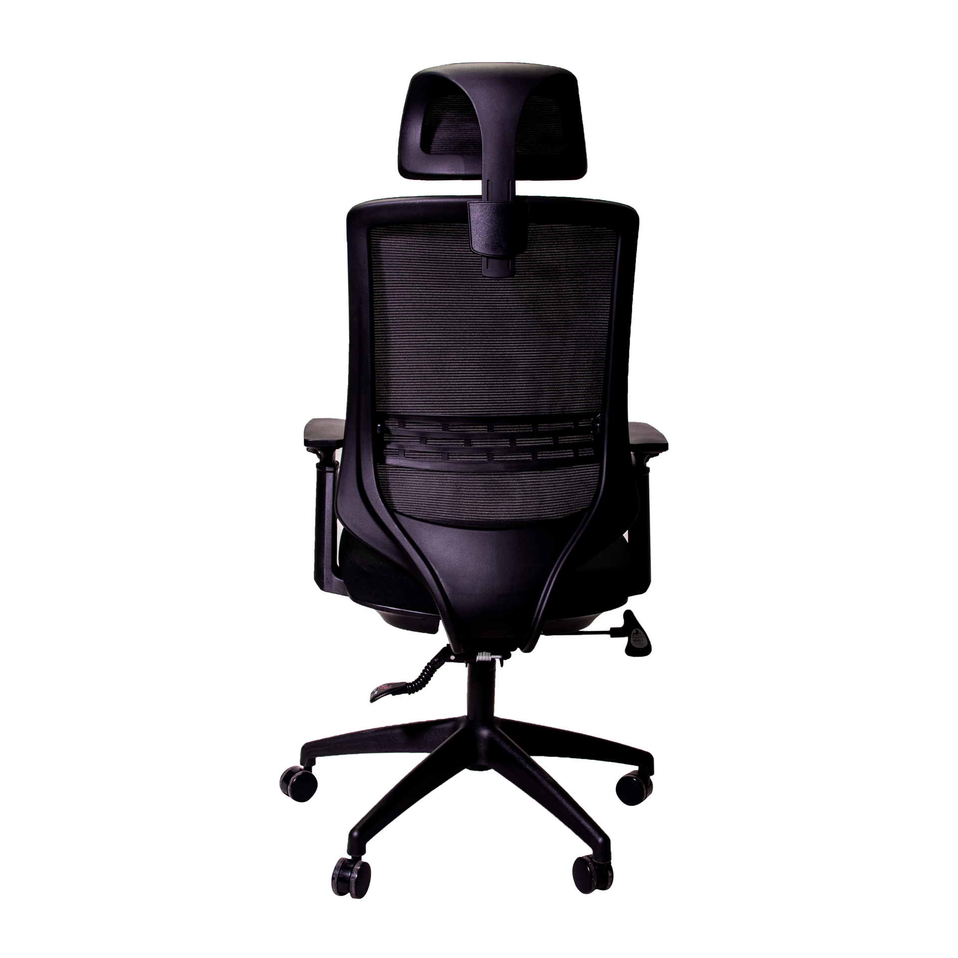 Anji High Back Mesh Chair w/Headrest - Black
