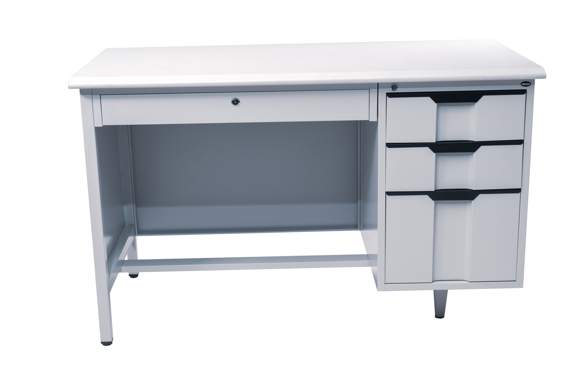 Picture of AD-1200GY Image 1200 x 600 Metal Desk w/Single Pedestal - Grey