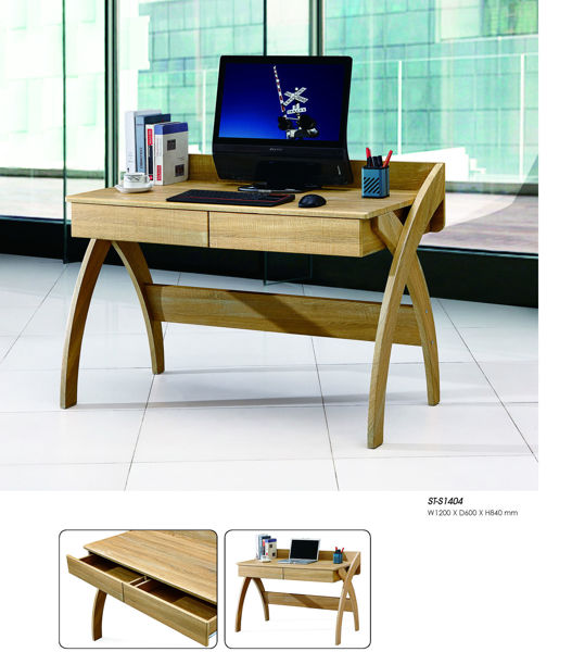 Picture of ST-B1404 Torch 1200 x 600 Desk w/2-Drawers - Oak