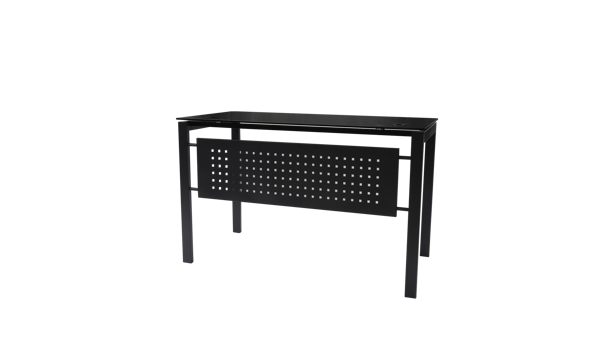 Picture of ST-B060BK Torch 1200 x 600 Glass Desk - Black