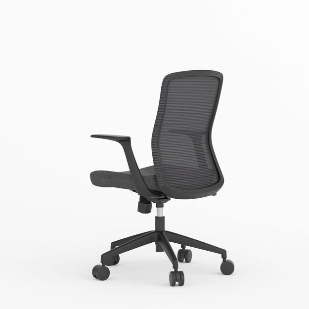 Picture of AA-5313BK Anji (Kenvo) Medium Back Chair - Black