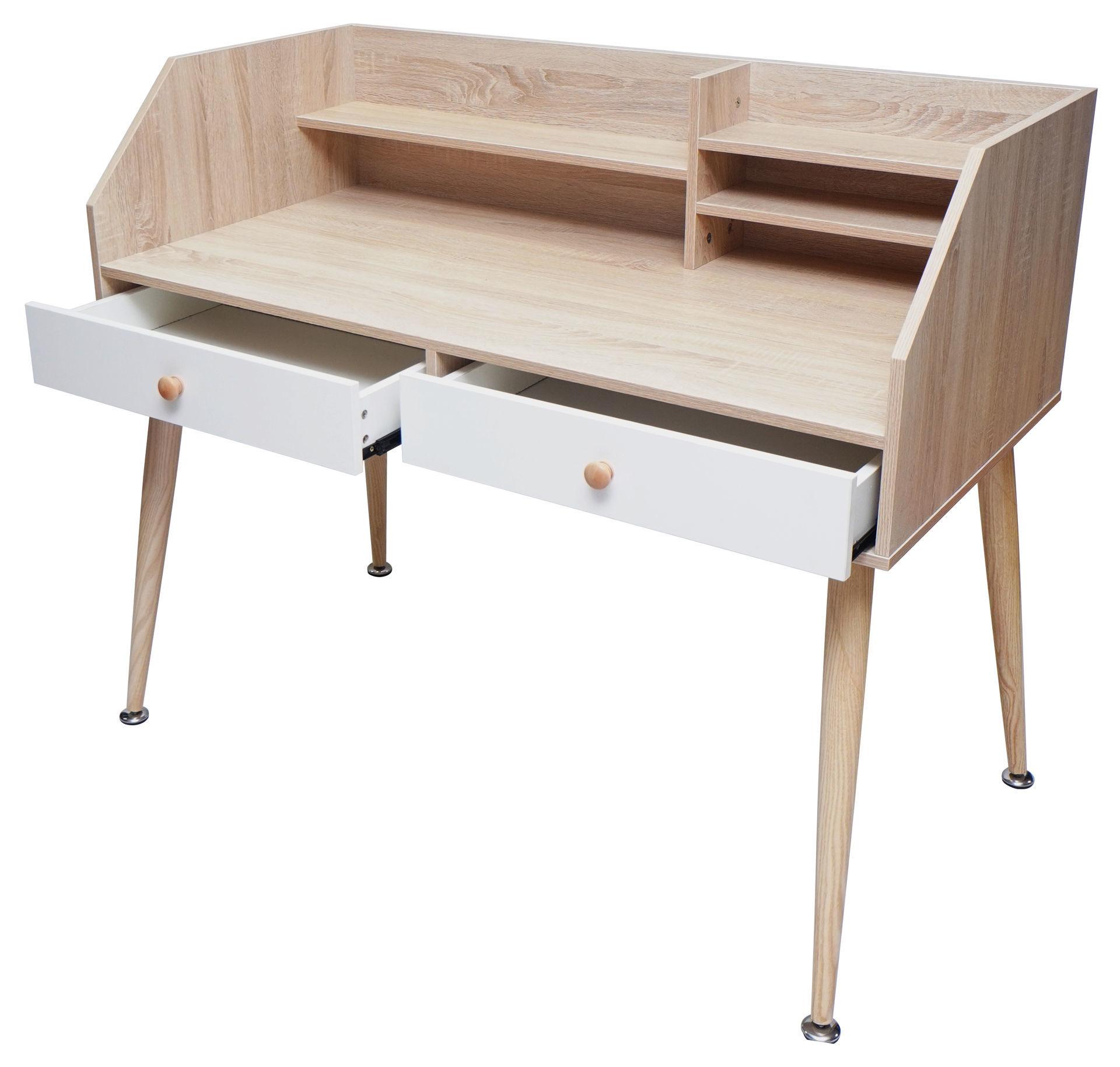 Picture of HX-014 Ulink 1200 x 600 Computer Desk w/Hutch - Pine
