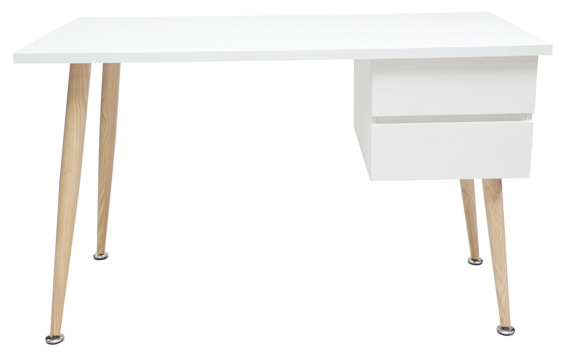 Picture of HX-455 Ulink 1200 x 600 Computer Desk w/Side Drawers - White
