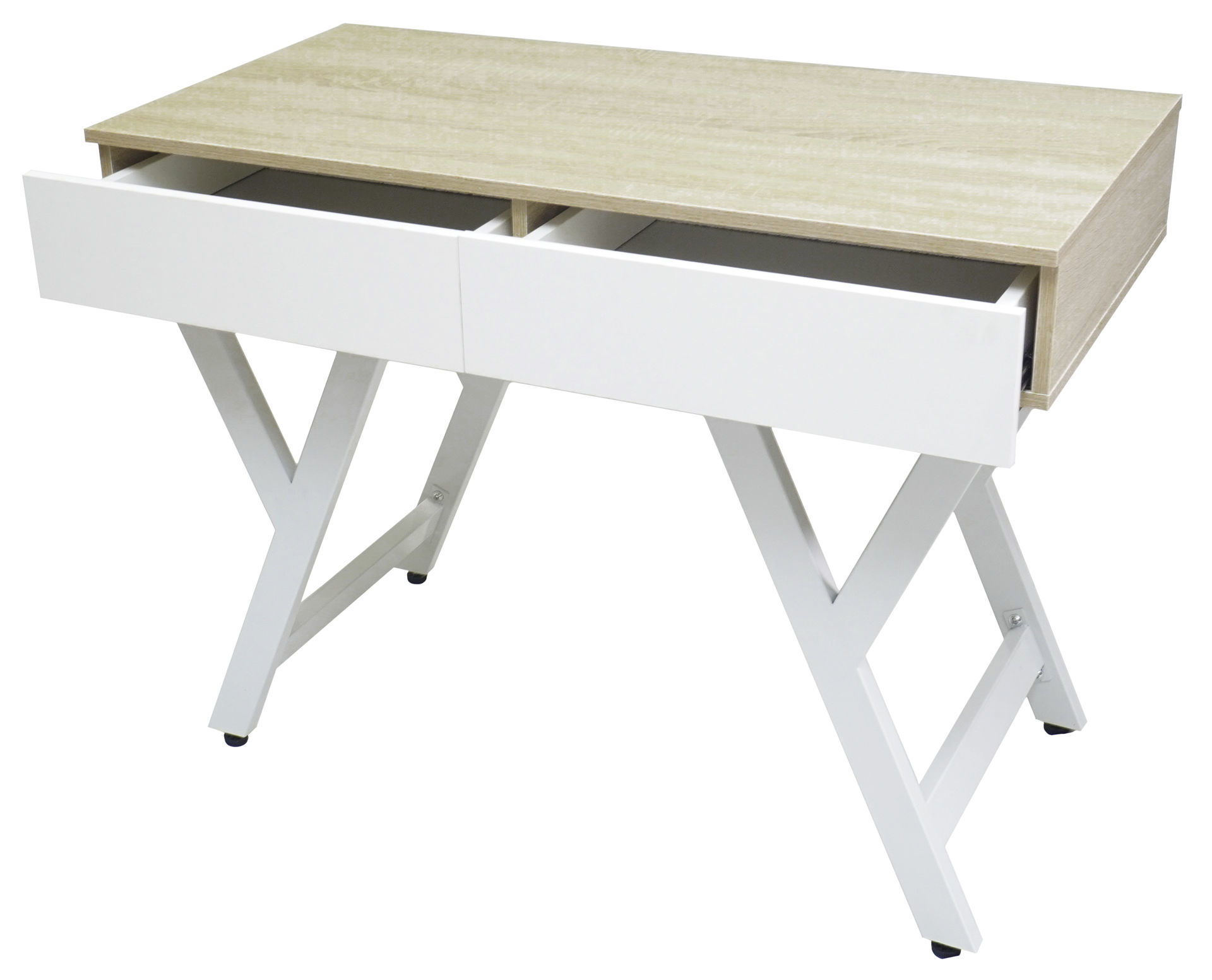 Picture of HX-465 Ulink 1000 x 500 Computer Desk w/Drawers - Pine