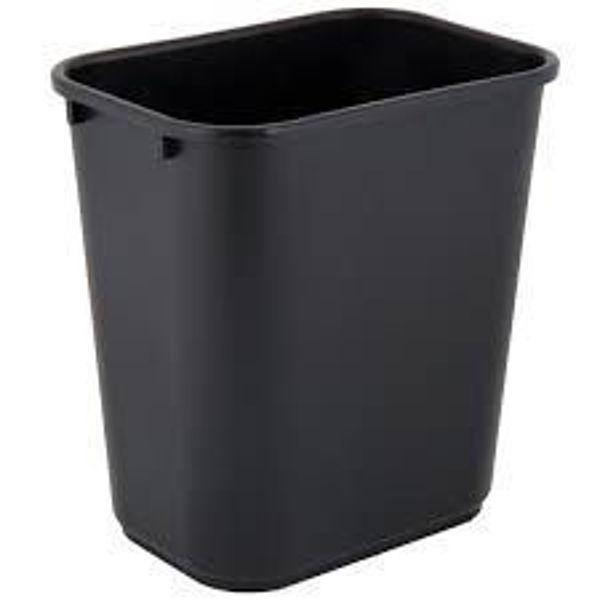 Picture of 05-018 Storex Waste Paper Bin Black (Med) #7109