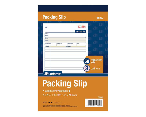 Picture of 07-044D 8x5 Packing Slip (Del) Book (3) Carbonized #TC5082