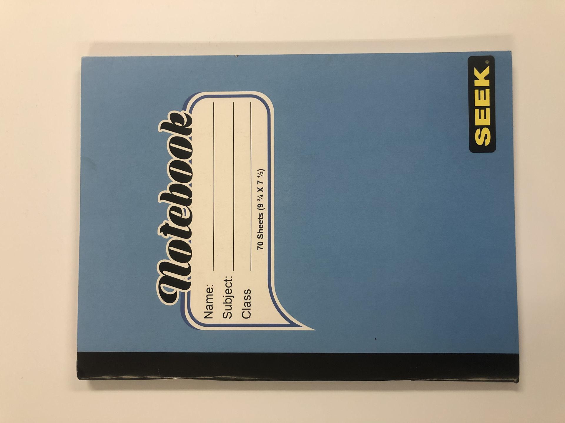 70 Sheets (9-3/4 x 7-1/2) Notebook (non-taxable)