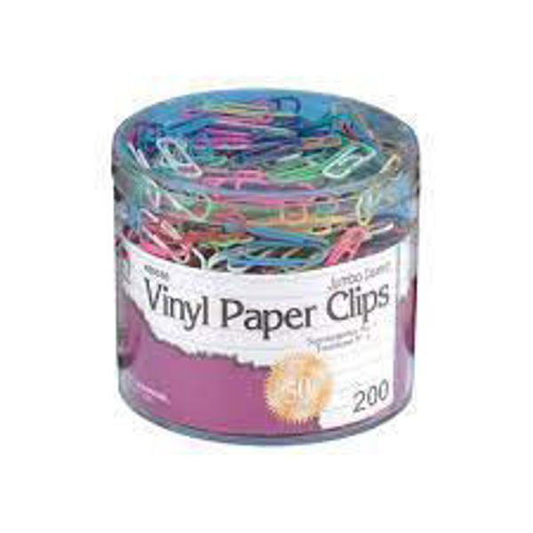 Picture of 19-053 CLI Col. Vinyl Paper Clips (200) - Jumbo #85050