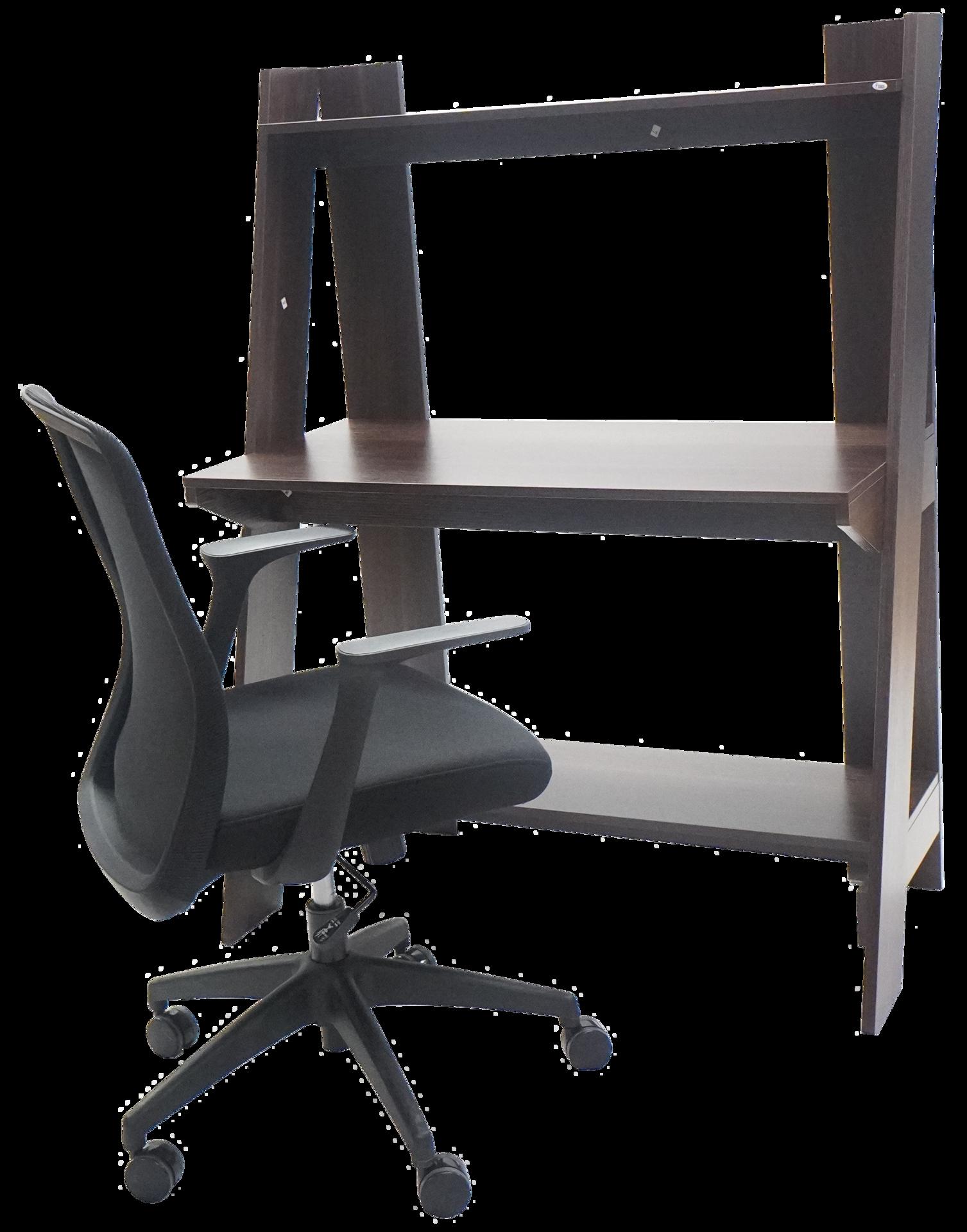 Picture of ST-B2015 Torch 1000 x 500 x 1325 Ladder Shelf Desk - Black Walnut