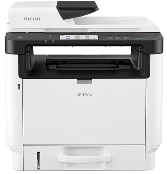 Picture of 21-077 Ricoh Monochrome Multifunction Printer #SP 3710SF