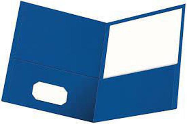 Picture of 40-035 Oxford Double Pocket Portfolio - Royal Blue #50754/50